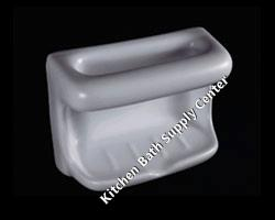 H46W Ceramic Soap and Washcloth Dish by HCP Industries