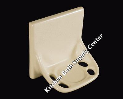 TB44 Ceramic Toothbrush Holder Flatback by HCP Industries