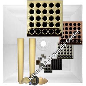 Pro Advanced 72 x 72 Custom Tiled Shower Kit in ABS or PVC