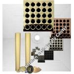 Pro Advanced 72 x 72 Custom Tiled Shower Kit in ABS or PVC