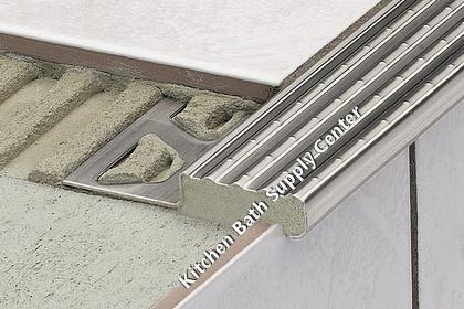 Schluter TREP E Anti Slip Stainless Steel Stair Nosing Profiles