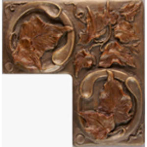 Metallic Tile Tuscan Corner Piece 2 x 4 by 2 x 4 Inches by Tiles-R-Us