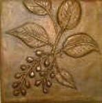 Metallic Tile Wild Berry Tiles 5 x 5 Inches