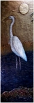 Metallic Tile Heron Night Scene 36 x 12 Inches