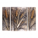 Metallic Tile Cattail Water Ways Tiles 12 Inches