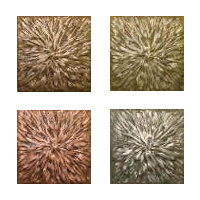 Metallic Tile Sunburst Artisan Field Tile 4 x 4 Inches by Tiles-R-Us