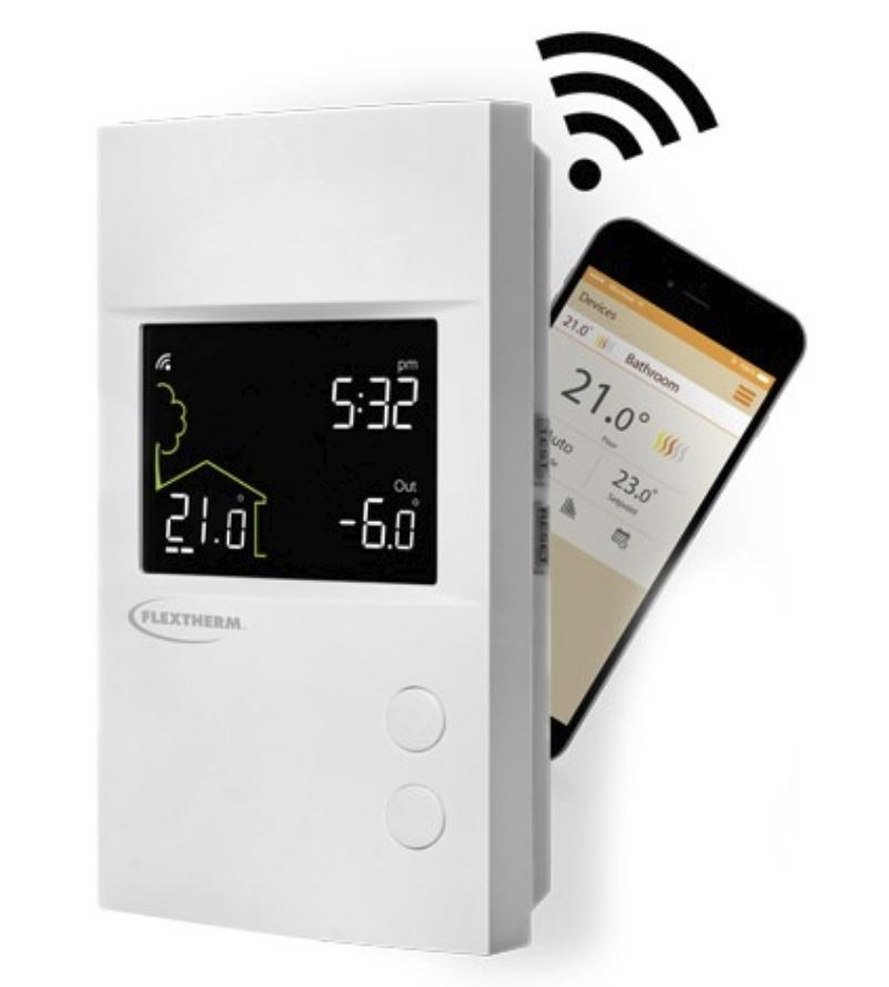 FLP55 Electronic Programmable Thermostat WiFi Remote Access by FlexTherm