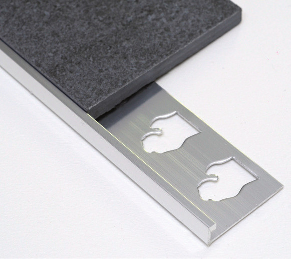 L Channel Transition Trim Aluminum and Anodized Aluminum by Tiles-R-Us