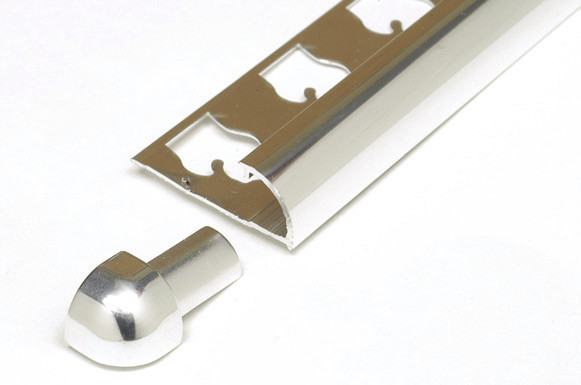 Round Edge Tile Trim Stainless Steel Outside Corner by Tiles-R-Us