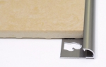 Round Edge Tile Trim in White or Beige PVC