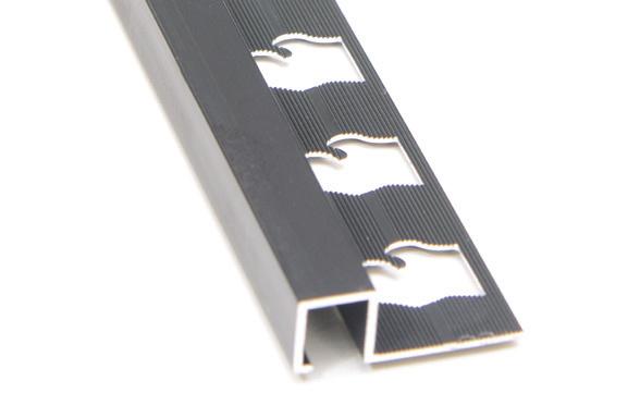 Square Edge Tile Trim in Anodized Aluminum by Tiles-R-Us