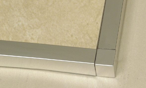 Square Edge Tile Trim Anodized Aluminum Corner by Tiles-R-Us