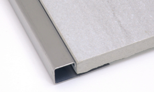 Square Edge Tile Trim 1 2 Inch in Brushed Stainless Steel by Tiles-R-Us