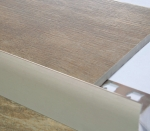 Tread Edge Smooth Face 4 Foot Brushed Nickel Anodized Aluminum
