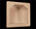 HCP H55R Recessed Mini Hotel Soap Dish 5 x 5 Inch 3 x 3 Opening