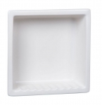 H12R Single Compartment Large Recessed Ceramic Shower Niche