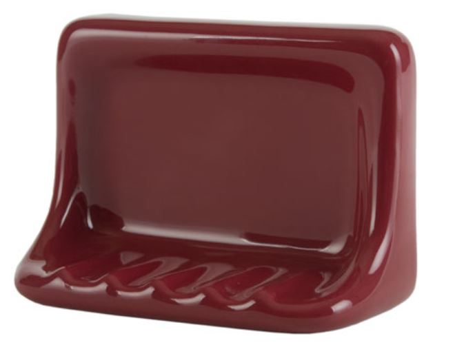 H46 Ceramic Soap Dish for Tile Showers and Baths 4 x 6 Nominal by HCP Industries