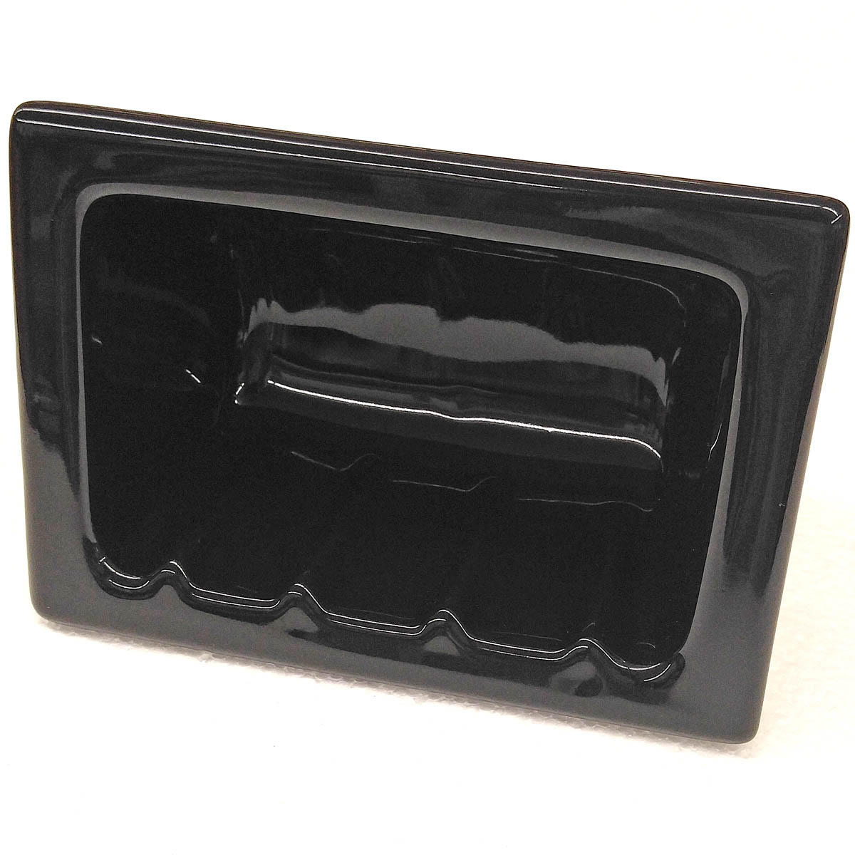 H46R Ceramic Recessed Soap Dish for Tile Showers and Baths 4 x 6 by HCP Industries