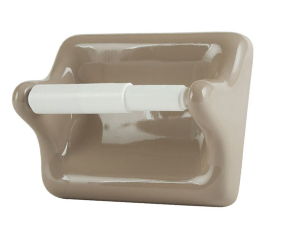 TT46 Ceramic Toilet Tissue Holder for Tiled Walls 5 x 6 Nominal by HCP Industries