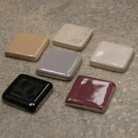 Ceramic Niche Shelf and Dish Approximate Color Sample Chips by HCP Industries