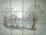 Antique Ceramic Mosaic Mural 12 x 16