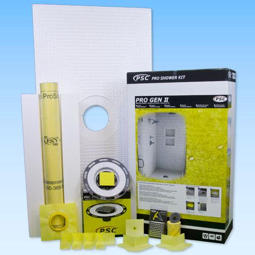 PSC Pro GEN II 32x60 Center Drain Tile Shower Kit - NO DRAIN by Pro-Source Center