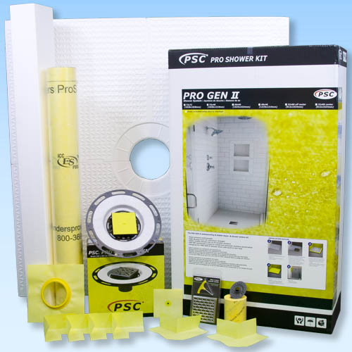 PSC Pro GEN II 48x48 Custom Tile Waterproofing Shower Kit - NO DRAIN by Pro-Source Center