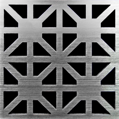PSC Pro Stainless Steel Drain Grate Cover - Obelix Design by Pro-Source Center