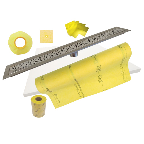 PSC Stainless Steel 50 to 72 Inch Linear Trench Drain Shower Kits by Pro-Source Center