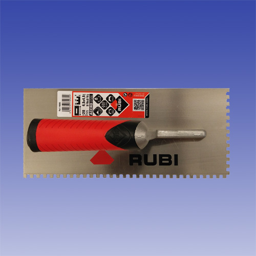 Trowel 3 16 x 3 16 inch for installing WP Waterproof Membrane by Rubi