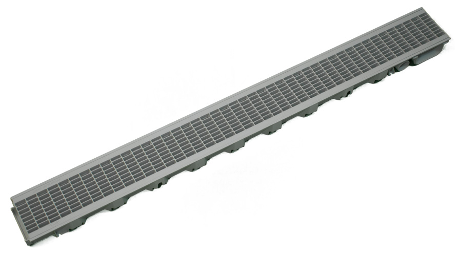 Trench 40in Linear Drains Pegasus Plus One S - Pedestrian Traffic by PSC