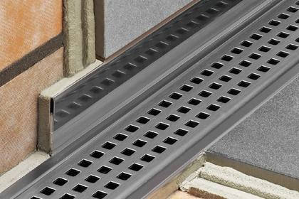 Kerdi Shower Pan Linear Drain.Schluter Kerdi Line Linear Drain Offset All Grates