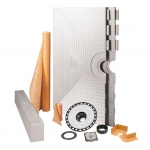 Schluter Systems 72 x 72 Inch Kerdi Shower Kit - NO DRAIN
