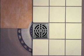 Kerdi Shower Drain Kit - 6 Inch Grate by Schluter Systems