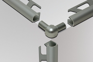 Double Leg Outside Corner for Schluter RONDEC - Anodized Aluminum by Schluter Systems