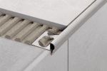 Schluter TREP-FL Decorative Stainless Steel Stair-Nosing Profiles