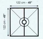Schluter Kerdi Foam Shower Pan 48x48 ST-122 with Pre Cut Kerdi