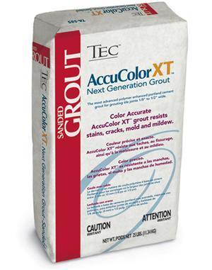 Tec AccuColor XT Premium Sanded Grout 25lb Bag