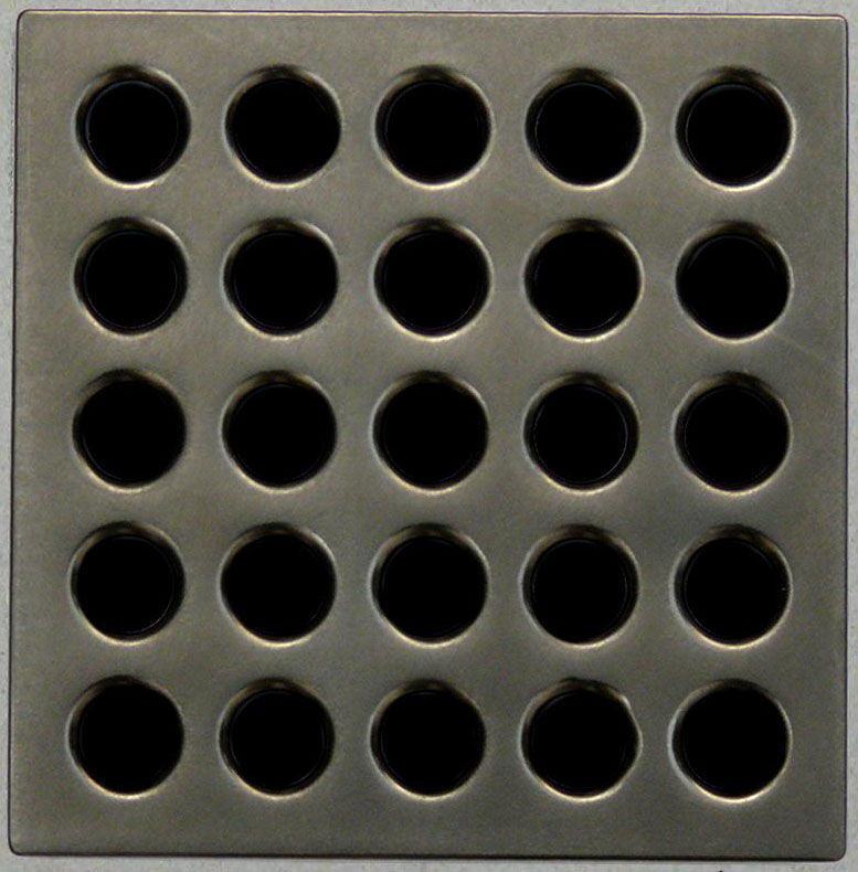 Waterproofing shower kit Drain Grate Cover color Antique Pewter E4405